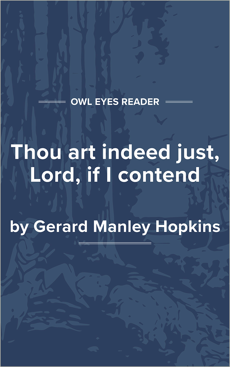 Thou Art Indeed Just, Lord, If I Contend Cover Image