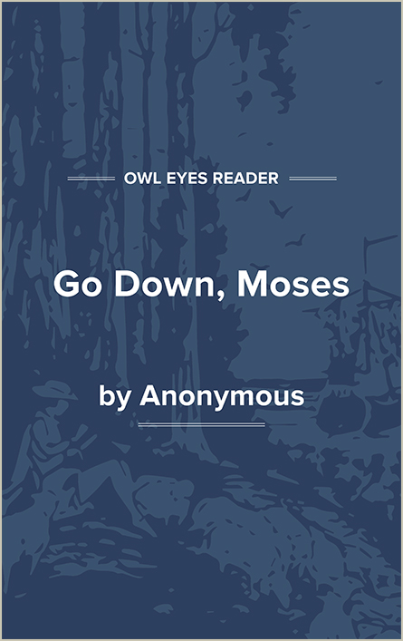 Go Down, Moses Cover Image