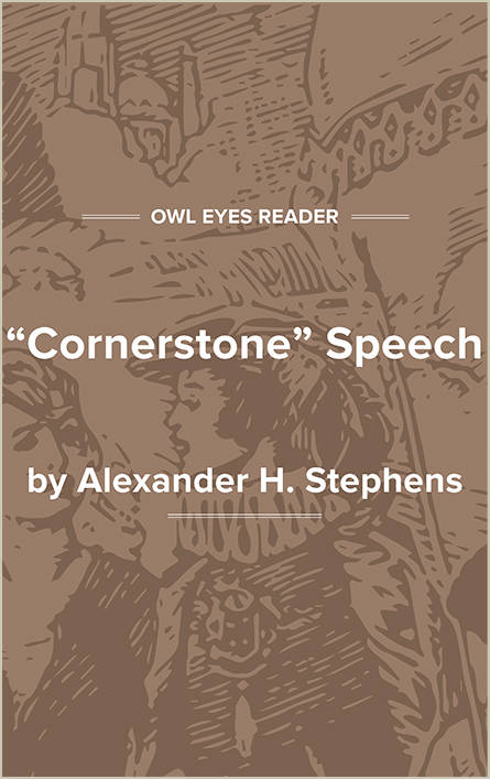 "The ""Cornerstone"" Speech Cover Image"