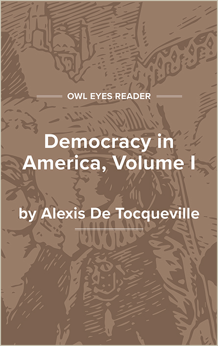 Democracy in America, Volume I Cover Image