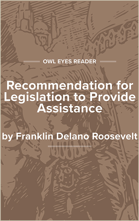 Recommendation for Legislation to Provide Assistance Cover Image