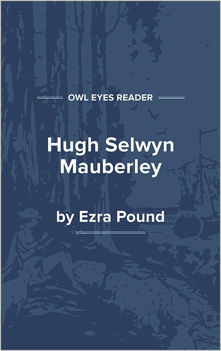 Hugh Selwyn Mauberley Cover Image