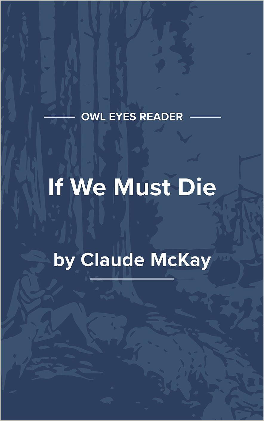 If We Must Die Cover Image