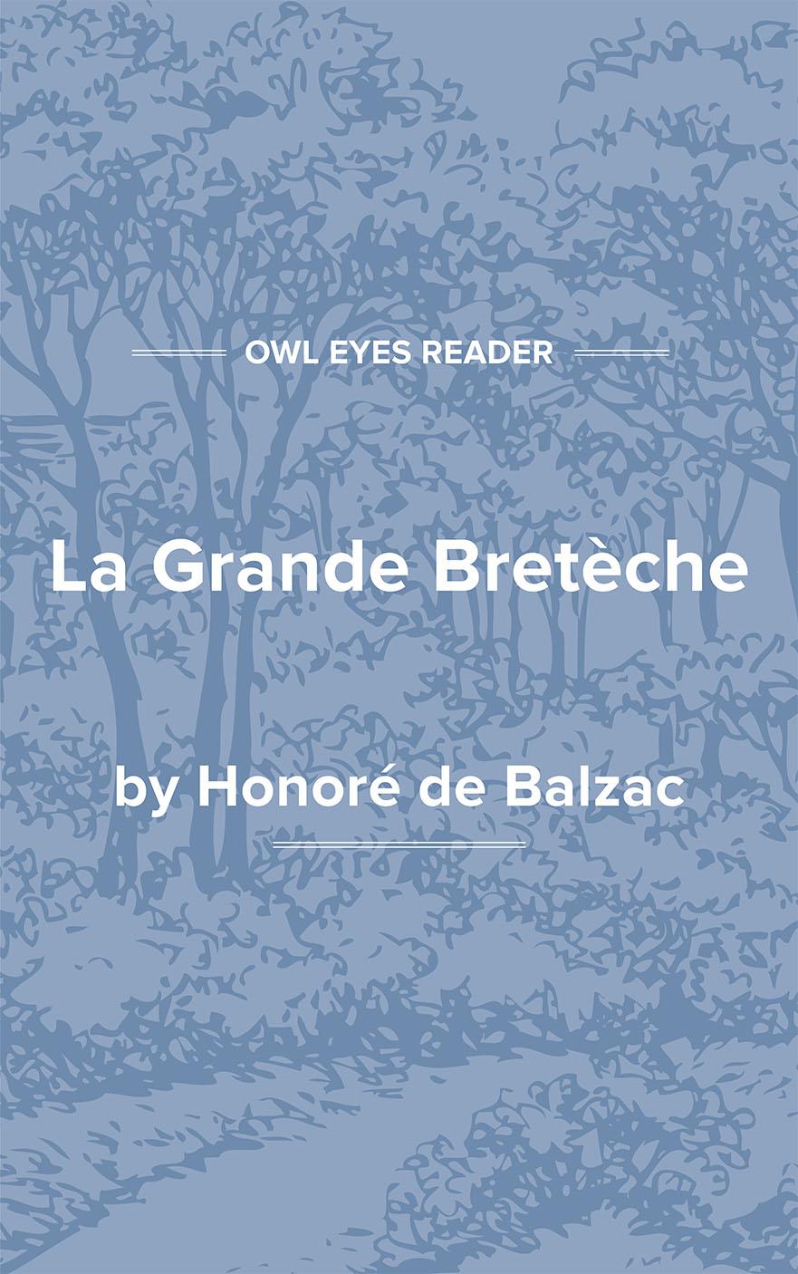 La Grande Bretèche Cover Image