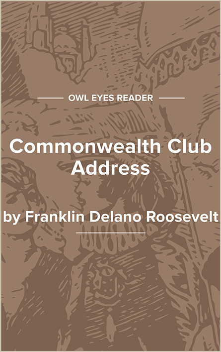 Commonwealth Club Address Cover Image