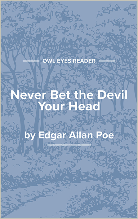 Never Bet the Devil Your Head Cover Image