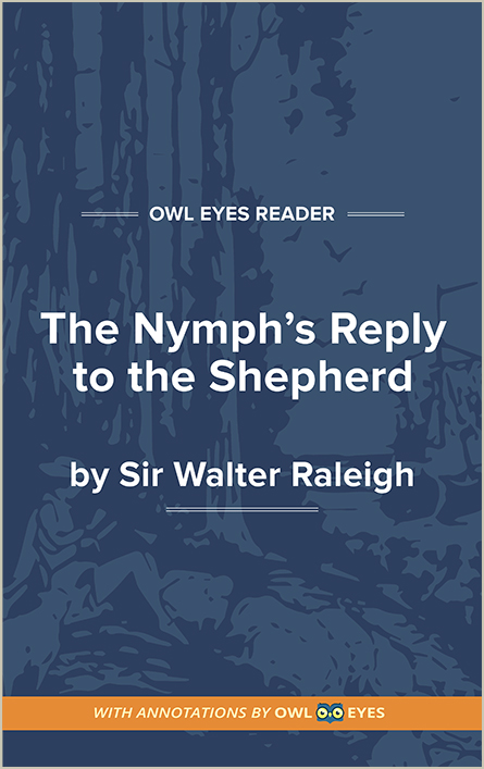 The Nymph's Reply to the Shepherd Cover Image