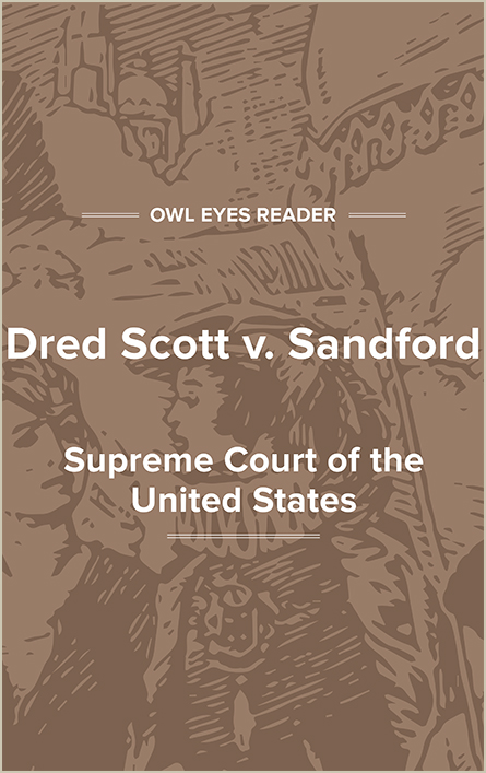 Dred Scott v. Sandford Cover Image