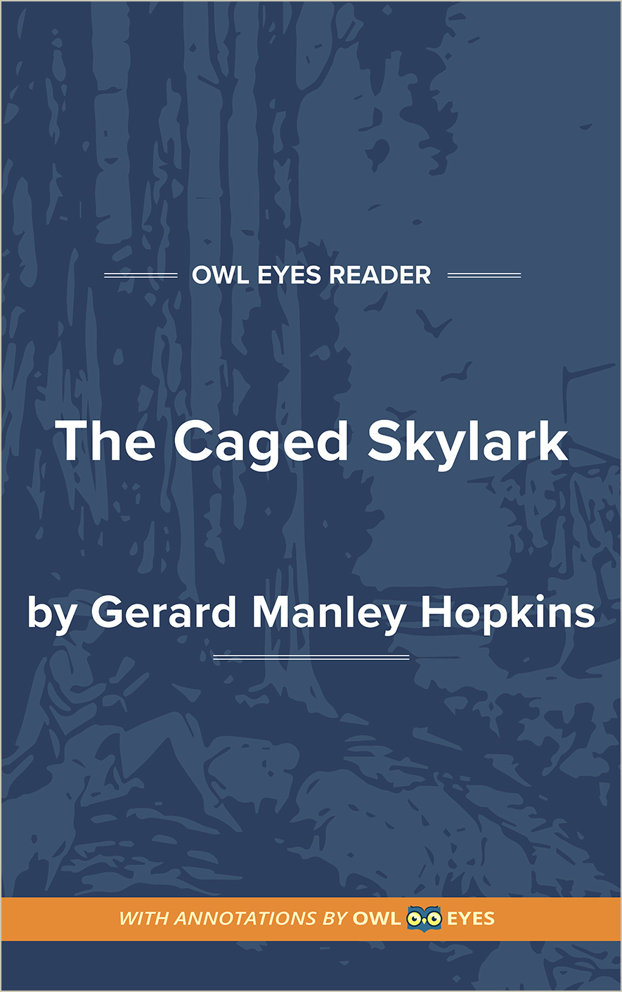 The Caged Skylark Hopkins Cover Image