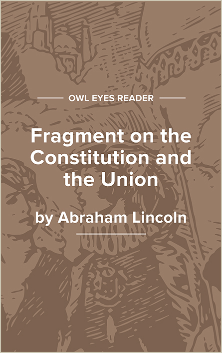 Fragment on the Constitution and Union Cover Image
