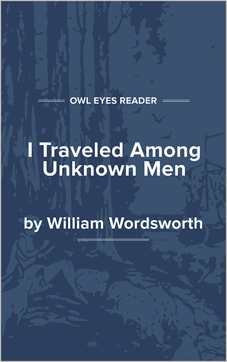 I Travelled Among Unknown Men Cover Image