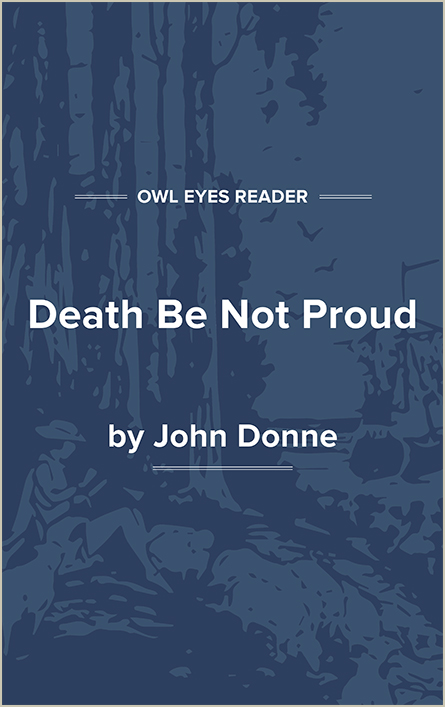 Death Be Not Proud Cover Image