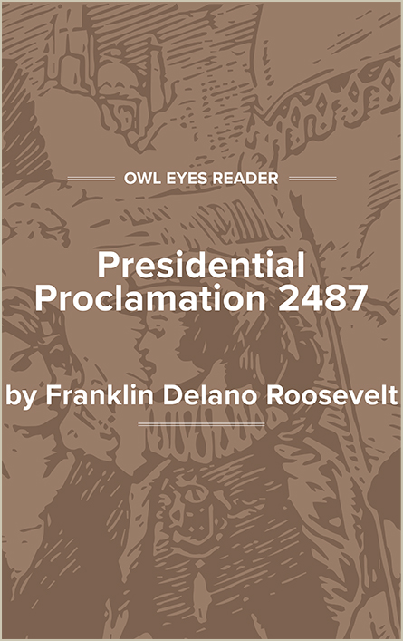 Presidential Proclamation 2487 Cover Image