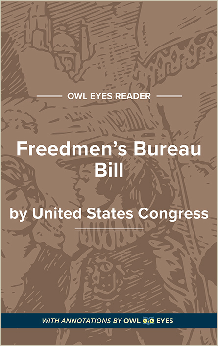 Freedmen's Bureau Bill Cover Image