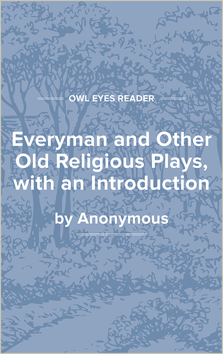 Everyman and Other Old Religious Plays, with an Introduction Cover Image