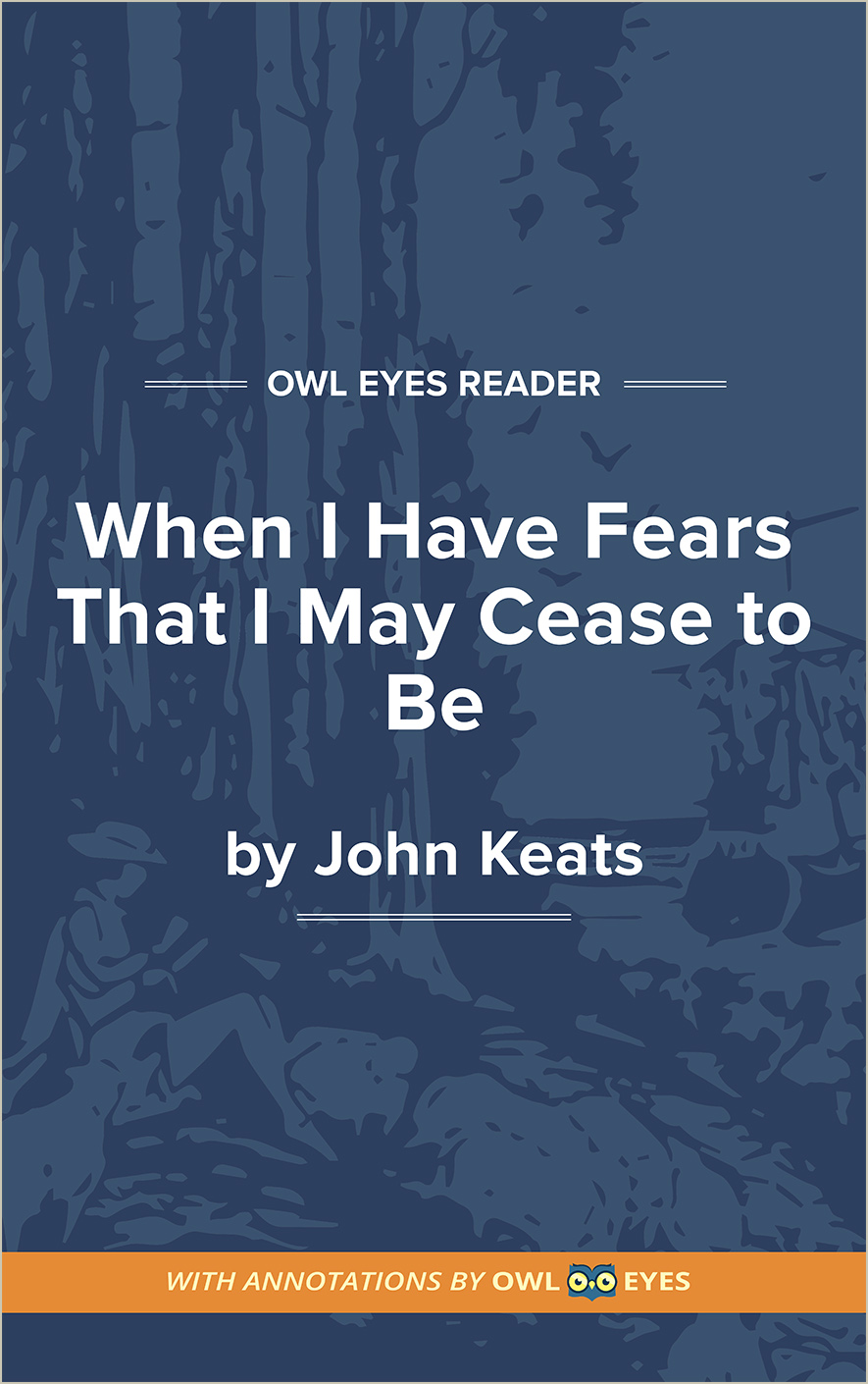 When I Have Fears That I May Cease to Be Cover Image