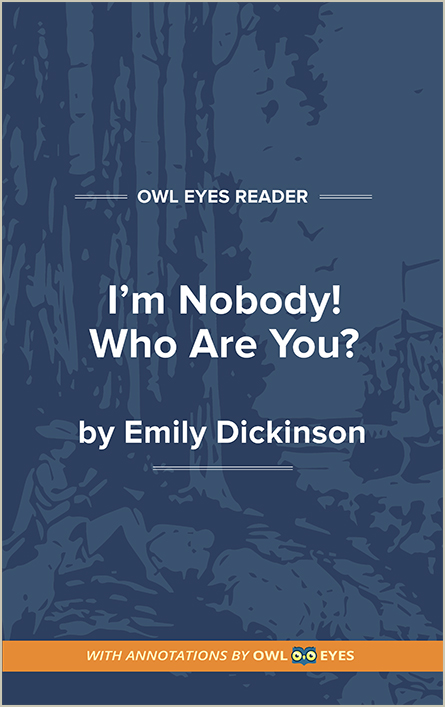 I'm Nobody! Who Are You? Cover Image