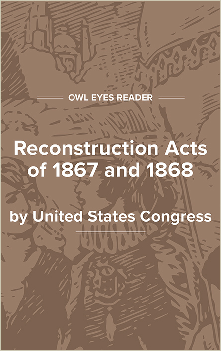 Reconstruction Acts of 1867 and 1868 Cover Image