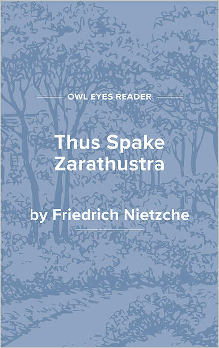 Thus Spake Zarathustra: A Book for All and None Cover Image