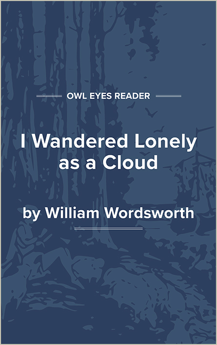 I Wandered Lonely as a Cloud Cover Image