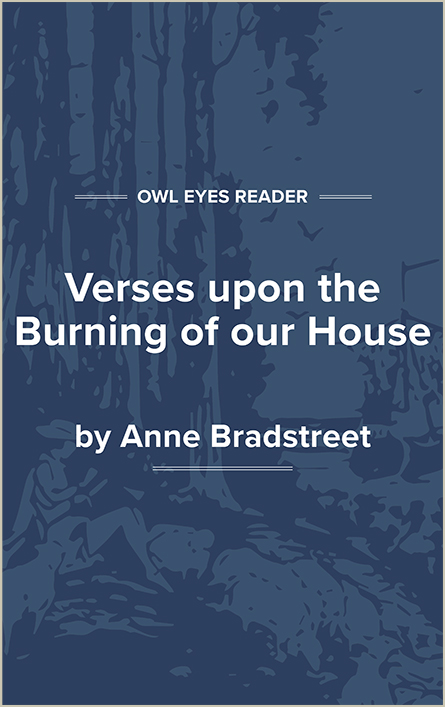 Verses Upon the Burning of Our House Cover Image