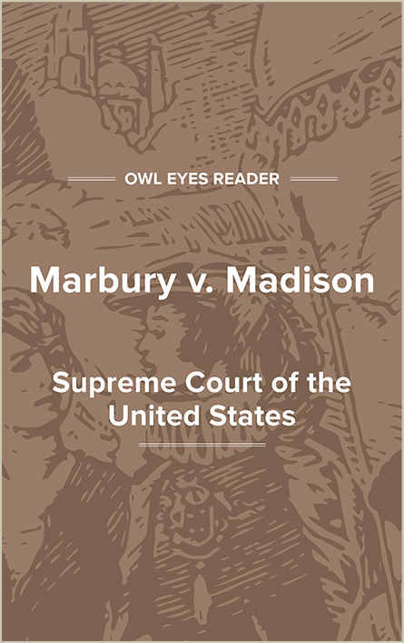 Marbury v. Madison Cover Image