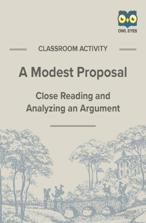 A Modest Proposal Argument Analysis Activity