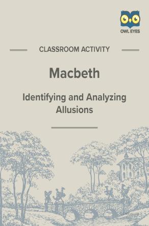 Macbeth Allusion Activity