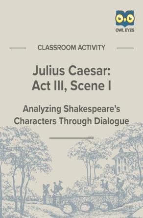 Julius Caesar Act III, Scene I Dialogue Analysis Activity Worksheet