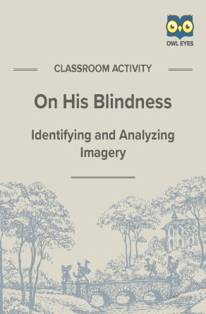 On His Blindness Imagery Activity