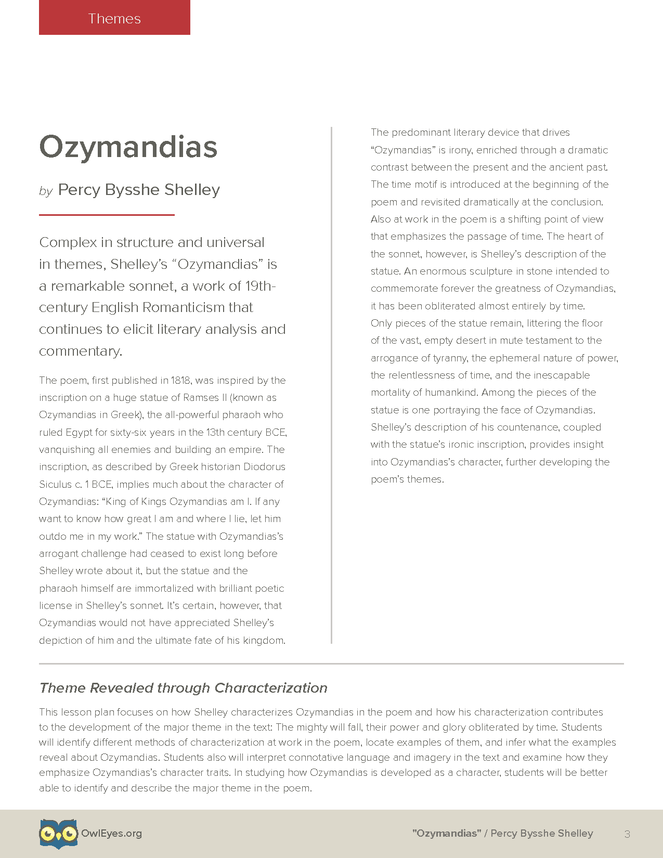 ozymandias poem text