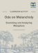 Ode on Melancholy Metaphor Activity page 1