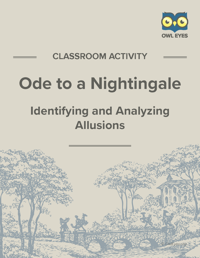 ode to a nightingale text