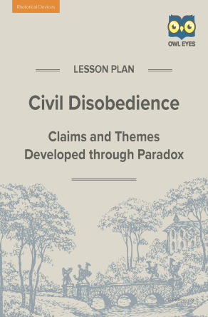 Civil Disobedience Rhetorical Devices Lesson Plan