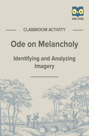 Ode on Melancholy Imagery Activity