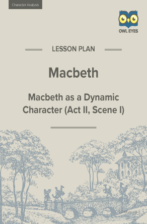 Macbeth Character Analysis Lesson Plan