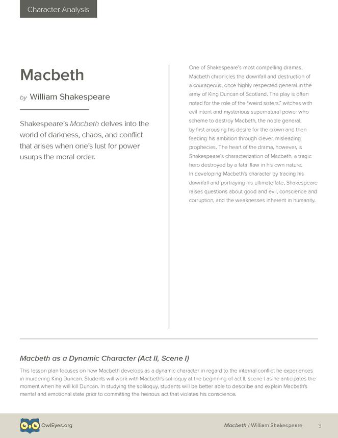 the moral of macbeth