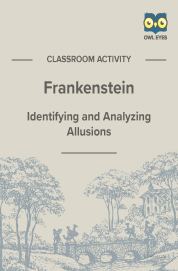 Cover image for Frankenstein Allusion Activity