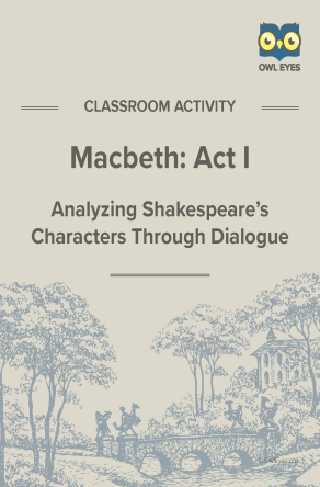 Macbeth Act I Dialogue Analysis Activity Worksheet